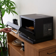 電子レンジ/キッチン/料理/バルミューダ/BALMUDA/デザイン家電/... 電子レンジ待ち時間に楽しい音楽が鳴る♪ス…(1枚目)
