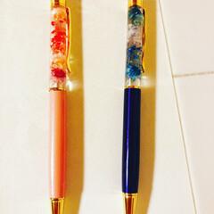 ハーバリウムボールペン/ハンドメイド ハーバリウムボールペン作ってみたよ^_^