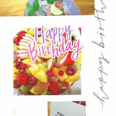 願いをこめて/新月/フルーツタルト/誕生日/ハンドメイド/暮らし 息子の誕生日‼️  フルーツタルトケーキ…