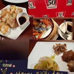 豚足と鶏肉  三種盛り/上海やきそば/カニ餡掛けチャーハン/山太郎カニ/にわとりの日 誕生日にリクエストで中華を食べに行きまし…