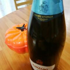 スパークリングワイン/チンザノ/秋 ハロウィーンに飲もうと思ってた スパーク…