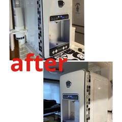 ウォーターサーバー/生活の知恵/インテリア/100均/ダイソー/ダイソーアイテム/... キッチンをリフォームして、家電も白に替え…