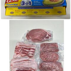 おつちごはん/まとめ買い/プレスンシール ❶お肉🥩をまとめ買いした後は、コストコの…
