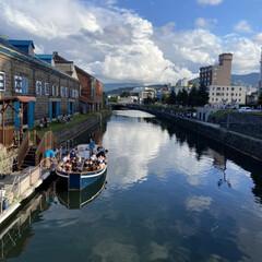 小樽ビール/小樽運河/奇跡の一枚 連投失礼します。 小樽運河から、小樽ビー…