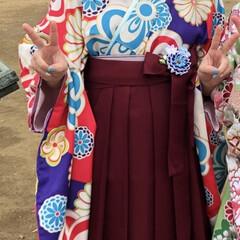 袴/着付け/卒業式 袴の着付けしました😊✨  ほぼ諦めていた…(1枚目)