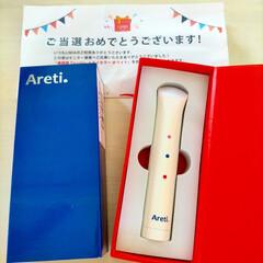 Areti アレティ LED 光 美顔器 Tricolor / アンチエイジング 赤外線 ブルーライト 温熱 振動 b1708(美顔器)を使ったクチコミ「「Areti.『美顔器 Tri-colo…」(1枚目)