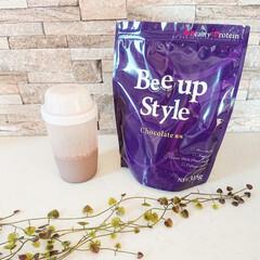 Bee up Style Chocolate風味   Bee up Style(ソイプロテイン)を使ったクチコミ「「新ボディーメイクプロテイン『ビーアップ…」(1枚目)