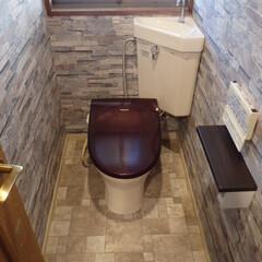 トイレ/トイレリフォーム/ウォシュレット/TOTO/トートー/三角タンク式トイレ/... 千葉県浦安市のトイレリフォーム事例です。…