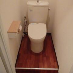 トイレ/トイレリフォーム/ウォシュレット/アプリコット/TOTO/トートー/... 東京都港区のトイレリフォーム事例です。 …