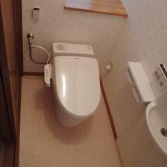 トイレ/トイレリフォーム/ウォシュレット/Panasonic/パナソニック/アラウーノ/... 東京都足立区のトイレリフォーム事例です。…