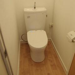 トイレ/トイレリフォーム/ウォシュレット/アプリコット/TOTO/トートー/... 京都府京田辺市のトイレリフォーム事例です…
