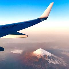 富士山上から/飛行機/富士山  あんこさんの富士山の写真📸を見て思い出…