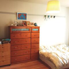 チェスト/ベッド/寝室/雑貨/100均/セリア/... 寝室です^^ 縦長なので、ベッドの足下に…