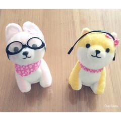 小型犬/小型犬用/メガネ/ぬいぐるみ/さくら/さすけ/... ぬいぐるみに可愛く装着! ダイソーの小型…