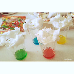 セリア/100均/コップ/綿菓子/カラフル/かき氷のシロップ/... かき氷のシロップの 余り活用法! 検索か…