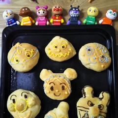 アンパンマン/パン作り/カラフル/節電/楽しい/美味しい/... アンパンマンたち 作ってみました(^^)…