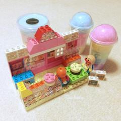アンパンマン/ドキンちゃん/ブロック/おもちゃ/可愛い/美味しい/... 渋谷のお店のわたがしv  と、 アンパン…