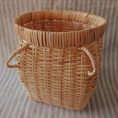 ファッション小物/ウエストポーチ/カバン/竹細工 仕事用にスズタケのツボケ入手。 安価なざ…