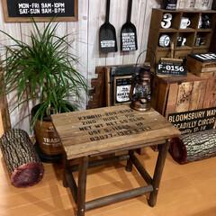カフェ風/男前/ミニテーブル/焼杉の杭/DIY/ダイソー/... ダイソーの園芸コーナーで見付けた焼杉の杭…