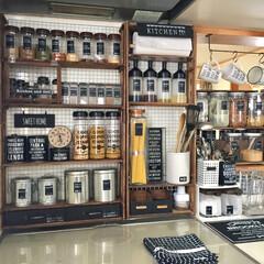 100均材料で調味料棚/DIY/雑貨/100均/キッチン/ハンドメイド