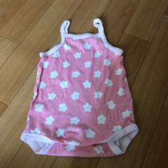 子ども用リメイク/手縫い 昨年の夏に着ていたキャミソール。 リメイ…