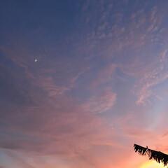 夕焼け 月と夕焼け 修正無しです。