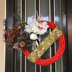 しめ縄兼クリスマスリース/ダイソー しめ縄兼クリスマスリース