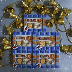 プティポッシュ/粘土/樹脂粘土/オブジェ/クリスマス/パン/... 8㎝程のオブジェ作品、出来上がりました🎄…