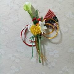 私の手作り/小さなお正月飾り/お正月飾り/水引/ペーパーヤーン ペーパーヤーンと水引です 左側がDAIS…(6枚目)