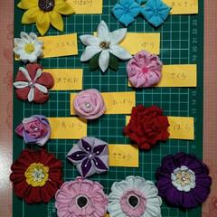 私のお気に入り/ハンドメイド/雑貨/100均/ダイソー/セリア つまみ細工で花を作ってみました😅  わか…