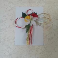 私の手作り/小さなお正月飾り/お正月飾り/水引/ペーパーヤーン ペーパーヤーンと水引です 左側がDAIS…(7枚目)