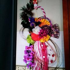 水引/しめ縄/お正月飾り/私の手作り 先ほどの続きです😅  去年、職場や飲食店…