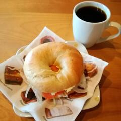 カフェメニュー/手ごねパン/モチモチ/ベーグルサンド/ベーグル/LIMIAごはんクラブ/... おはようございます🌄  昨日に続き、今朝…