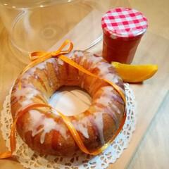 パウンドケーキ/クリームチーズ/オレンジ/至福のひととき/おやつタイム/LIMIAスイーツ愛好会/... オレンジピールとクリームチーズのエンゼル…(1枚目)