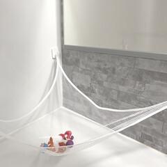 セリア/ダイソー/お風呂収納/お風呂掃除/おもちゃ収納/収納/... お風呂おもちゃ収納  セリアのマグネット…