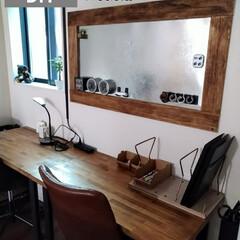 机/書斎/作業部屋/ダイソー/ハンドメイド/収納/... 壁に、色々、貼り付けたくて、マグネット収…(1枚目)
