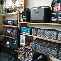 整理収納/キャンプ/アウトドア/収納/雑貨/DIY/... 増えてきたアウトドア用品を、ディスプレイ…