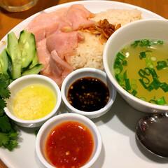 アジアン/ランチ/フード ランチに海南鶏飯。 シンガポール チキン…