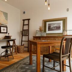 自然素材/無垢材/無垢杉の床/漆喰の壁/白い壁/W断熱の家/... . ~大好きなアンティーク家具で彩った …
