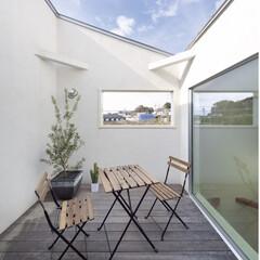 自然素材/無垢材/無垢杉の床/漆喰の壁/白い壁/W断熱の家/... . ~外からの視線はカットして  光と風…