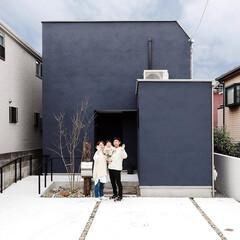 自然素材/無垢材/無垢杉の床/漆喰の壁/白い壁/W/... 東京都東村山市の工務店 《土間のあるおし…
