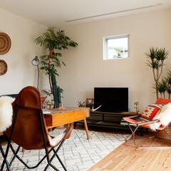 自然素材/無垢材/無垢杉の床/漆喰の壁/白い壁/W断熱の家/... . ~エスニックスタイルで統一した  お…
