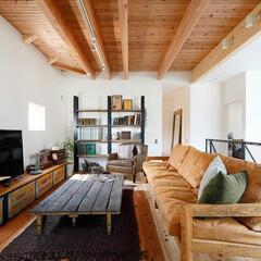 自然素材/無垢時ア/無垢杉の床/漆喰の壁/白い壁/W断熱の家/... 東京都東村山市の工務店 《土間のあるおし…