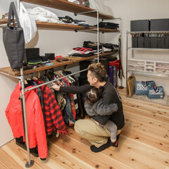 自然素材/無垢材/四角の家/ハコの家/フリースペース/セレクトショップ/... . ~セレクトショップのように  洋服や…