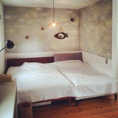 自然素材/無垢材/フリースペース/就寝スペース/ベッド/雑貨/... . ~就寝スペースは  アースカラーでま…