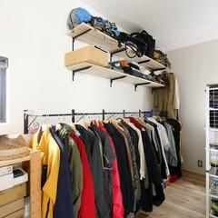 無垢材/無垢の床/フリースペース/ファミリークローゼット/造作棚/ハンガーパイプ/... . ~フリースペースの使い方は自由自在 …