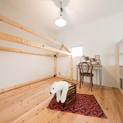自然素材/無垢材/無垢杉の床/漆喰の壁/白い壁/書斎/... . ~ . 家をおしゃれに住みこなそう。…