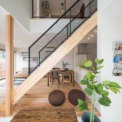 自然素材/無垢材/無垢杉の床/漆喰の壁/白い壁/W断熱の家/... . ~アースカラーのインテリアと  無垢…
