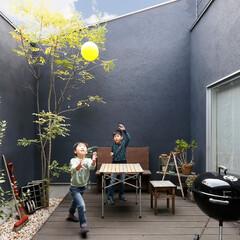 自然素材/無垢材/無垢杉の床/漆喰の壁/白い壁/W断熱の家/... . ~外からの視線を気にすることなく  …