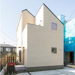 自然素材/無垢材/無垢杉の床/漆喰の壁/白い壁/W断熱の家/... . ~とんがり屋根の真っ白な家  Sty…